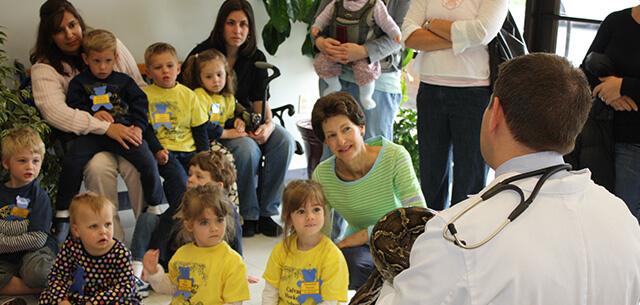 kid tours at kingsbrook animal hospital