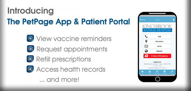 pet page and patient portal app